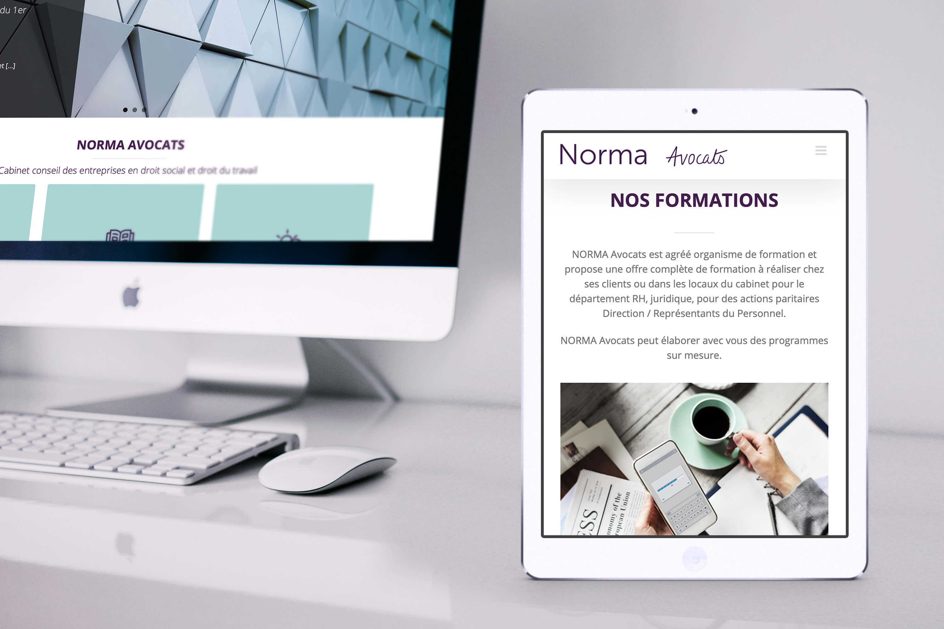 acteris - site internet Norma Avocats